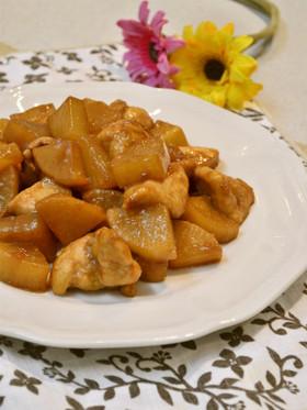 豚の角煮♡リメイク♡大根と鶏肉の炒め煮