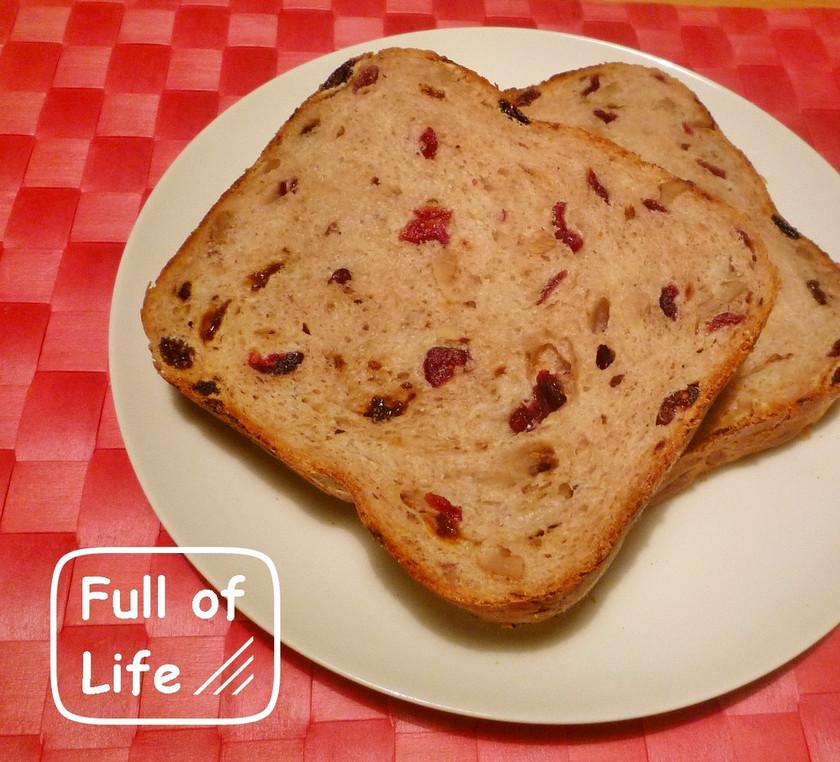 HB早焼き*クルミ&ドライフルーツ食パン