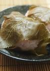 餅米で作る桜餅