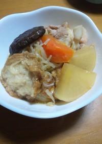 仙台麩(あぶら麩)と豚バラ大根煮