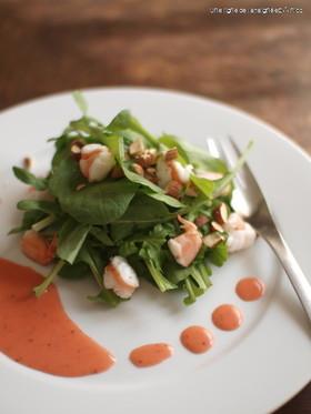 苺ドレッシングのサラダ。