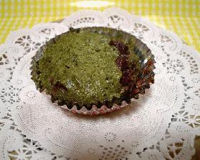 抹茶とあずきのカップケーキ