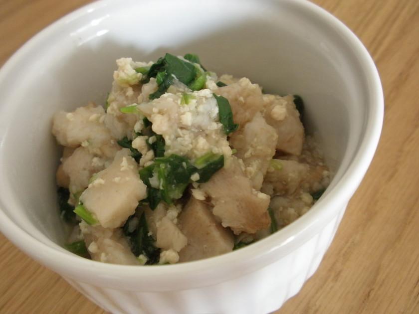 ✿離乳食中期~✿里芋とひき肉の簡単だし煮