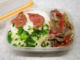 お弁当☆野菜いっぱい豚薄切り肉弁当