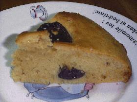 ホッとケーキミックスで紅茶とプルーンのガレット風ケーキ