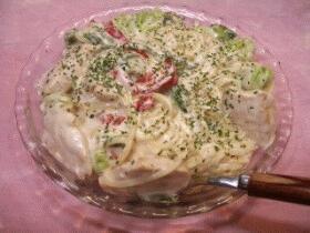 鶏肉ピーマンのペペロンチーノ☆ニンニク風味