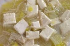 白菜とエノキのとろとろ豆腐