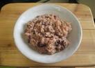 お豆が多目・しっかり味のうちのお赤飯。
