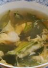 茎わかめのスープ