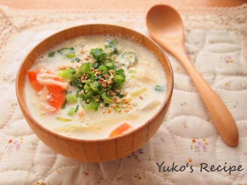 豆乳のモーニングスープ