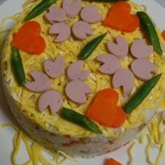 ひなまつりに!ちらし寿司ケーキ