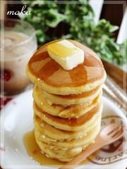 *。ふわふわ強力粉パンケーキ。*の写真