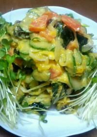 たっぷり野菜のカボチャサラダ