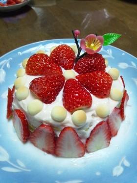離乳食 ひな祭りケーキ(誕生日)