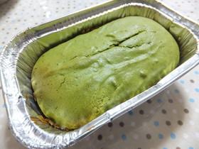 抹茶のふわふわカステラ風バターケーキ