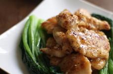 塩麹鶏のオイスター風味炒め。