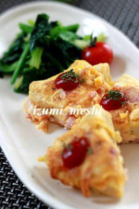高野豆腐のピカタ~カルボナーラ味