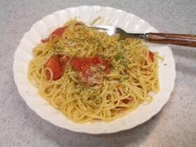 ツナとトマトのスパゲティ