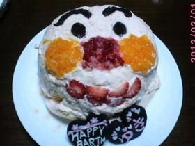 アンパンマンの立体ムースケーキ