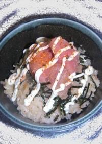 にんにく醤油&チーズご飯◆明太マヨ丼