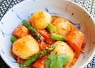 ✿甘辛酸美味~春野菜のキムチ南蛮漬風✿