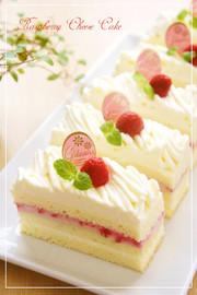 ラズベリーチーズモンブランショートケーキの写真