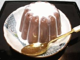 和菓子デザート☆ココアゼリー