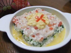 離乳食 雛祭り用菱餅お粥♪