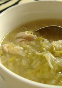 リークと鶏のスープ