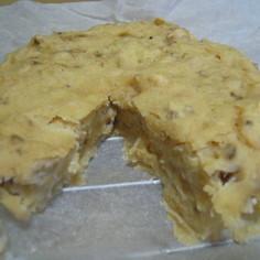 ヘルシー★豆腐できなこバナナくるみケーキ
