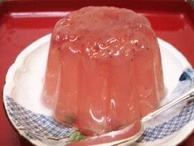 和菓子デザート☆イチゴゼリー