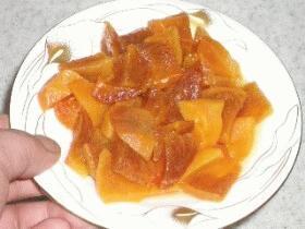 レンジ料理☆柿ジャムの作り方