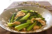 野菜の一品♪小松菜と揚げの煮びたしの写真