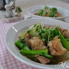 鶏肉と大根と菜の花のうま煮