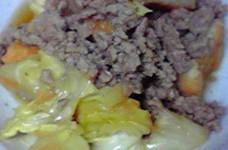 激ウマ☆厚揚げとひき肉とキャベツのうま煮