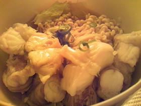 簡単:レンジ:あんこうと白菜のポン酢和え