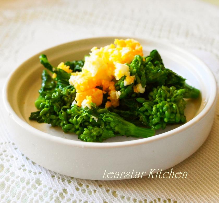 春の簡単副菜 菜の花の辛子和え ミモザ風