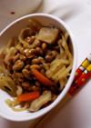 切干大根の煮物・納豆和え