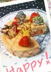 春におすすめ・フレジエ風ポケモン苺ケーキ