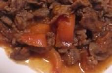牛肉のトマト炒め