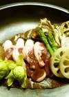 タジン鍋使用★春の朴葉味噌焼き