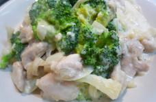 鳥とブロッコリーのクリーム煮