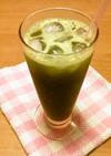 粉末緑茶で甘いアイスグリーンティー風♪