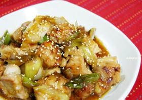 簡単美味しい☆鶏もも肉と白ねぎの照り焼き
