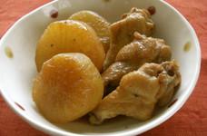 大根と手羽元の煮物(すき焼きのタレで)