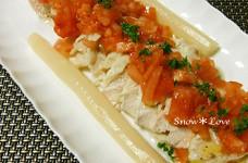 トマト+ドレッシングで☆鶏むね肉のサラダ