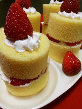 ロールちゃんでローソクケーキ