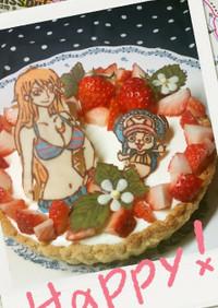 ワンピース・ナミ*レアチーズケーキ