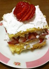 簡単!早い!天板で作るショートケーキ!
