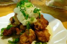 鶏もも肉の竜田揚げおろしポン酢